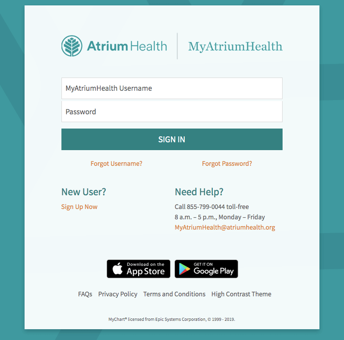 My Carolinas Healthcare login portal - Myatriumhealth