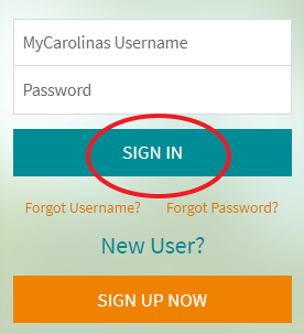 My carolinas healthcare login