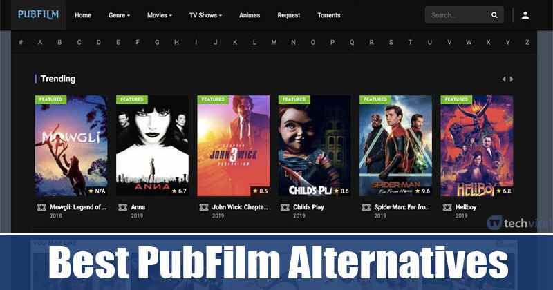 PubFilm alternatives to watch movies online for free