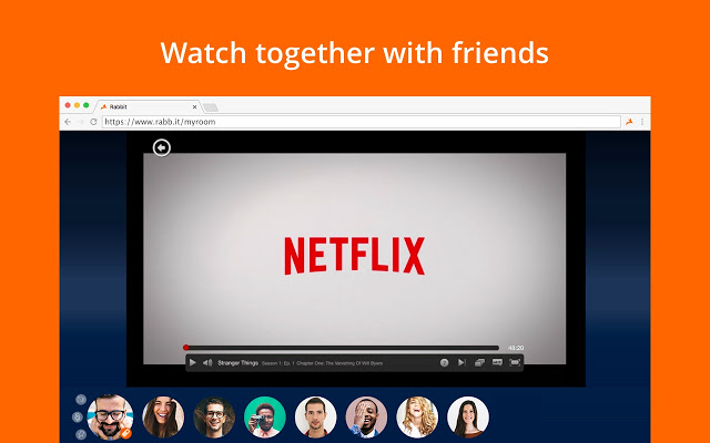 rabb.it alternatives to watch netflix with friends